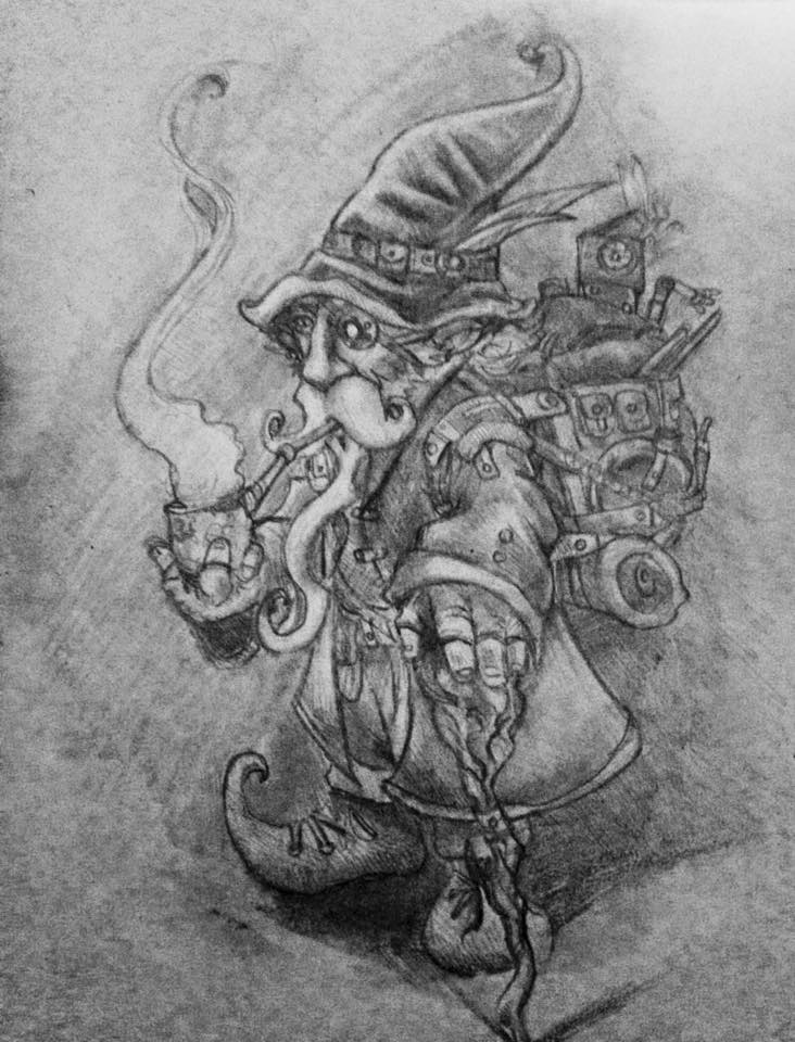 Gnome with the pipe smoke
